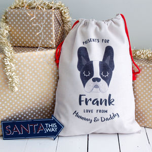 Dog Christmas Present Sack Personalised Large - stockings & sacks