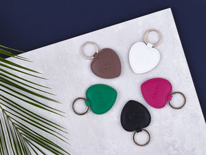 Love Heart Keyring - 3rd anniversary: leather