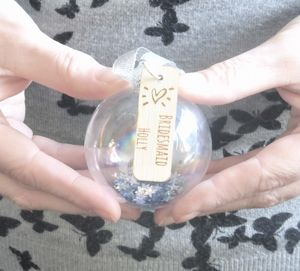 Bridesmaid Gift Personalised Glass Bauble - home accessories