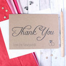'Thank You From The Newlyweds' Wedding Card