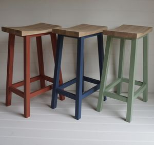 Scandi Stool Hand Painted In Any Colour - kitchen