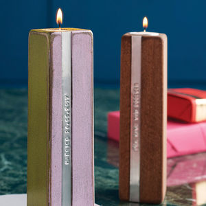 Two Personalised Wooden Tealight Candle Holders - home accessories