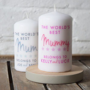 Personalised Mum Mummy Birthday Candle