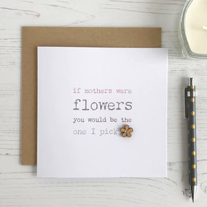 Mothers Flowers, Mother's Day Card