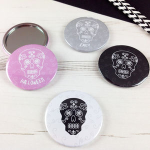 Halloween Day Of The Dead Pocket Mirror