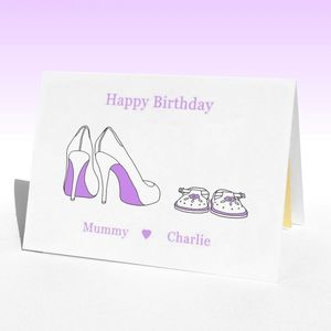 Personalised Birthday Shoes Birthday Card
