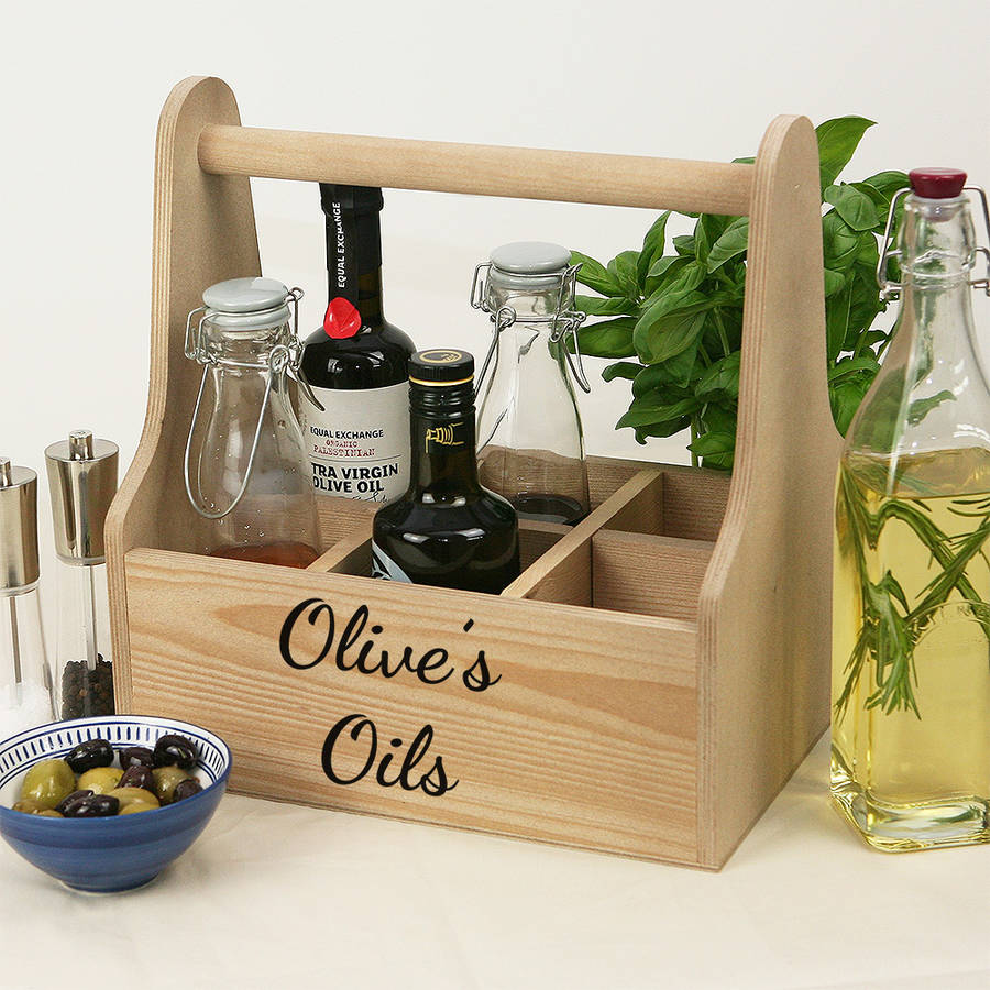 personalised wooden caddy - Kitchen Caddy