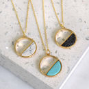 Geo Semi Circle Marble Necklace