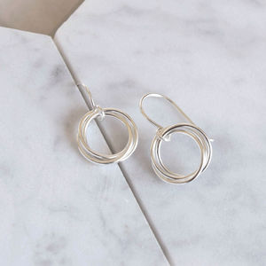 Sterling Silver Circles Earrings - earrings