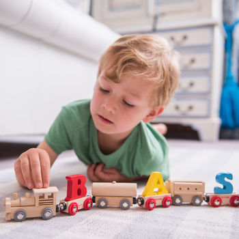 Personalised Wooden Freight Train