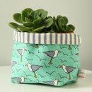 Seagull Canvas Storage Pot