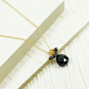 Black Onyx Small Cluster Pendant - necklaces & pendants