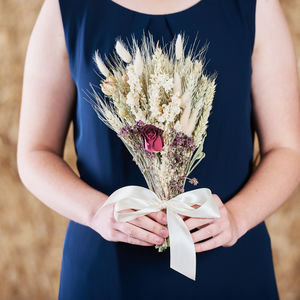 Burgundy Wheat Posy