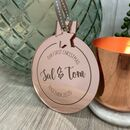 Personalised Rose Gold Christmas Bauble Together