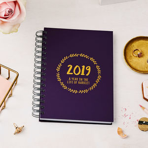 Personalised Decorative 2019 Weekly Diary