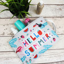 Hello Summer Travel Toiletry Bag