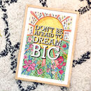 'Dream Big' Illustrated Typography Print