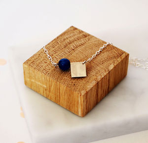 Jade And Square Necklace - necklaces & pendants