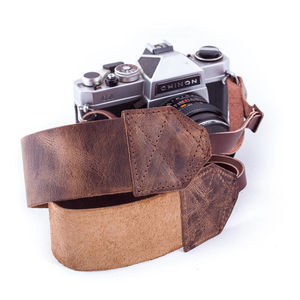 Personalisable Vintaged Brown Retro Camera Strap