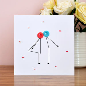 Kissing Couple Anniversary Card