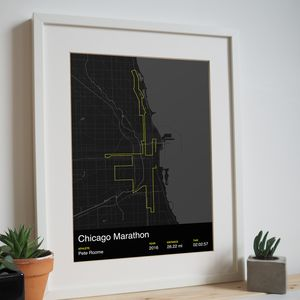 Personalised Chicago Marathon Map Print