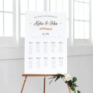 Pearl Wedding Table Plan - table decorations