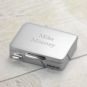 Silver Pill Box - jewellery storage & trinket boxes
