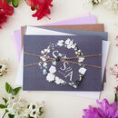 Lilac, Grey White Floral Wedding Invitations