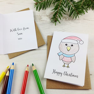 Personalised Colour In Christmas Cards - cards