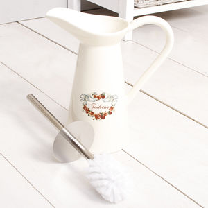 French Rose Ceramic Toilet Brush Store - bathroom