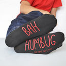 Personalised Bah Humbug Christmas Socks