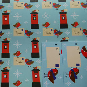 Robin Wrapping Paper, Christmas Wrapping Paper