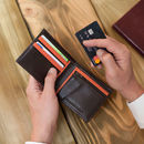 Personalised Italian Leather Wallet With Coin Section