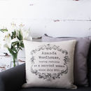 Vintage Style Personalised Cushion Cover