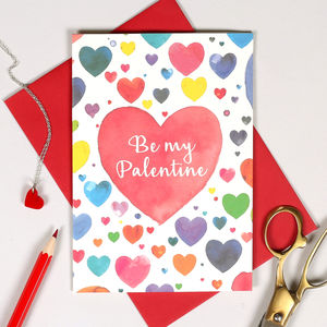 Personalised Be My Palentine Card - shop by category