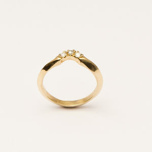 Crescent Diamond Ring - diamonds