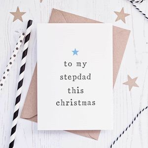 'To My' Stepparents Christmas Card - cards