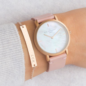 Personalised Mother Of Pearl Watch And Bar Set - heartfelt gifts for her