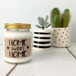 'Home Sweet Home' Scented Natural Soy Candle