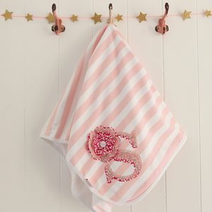 Personalised Letter Baby Blanket - sleeping