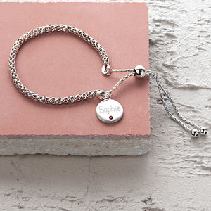 Personalised Birthstone Friendship Bracelet - gifts for sisters