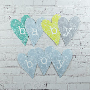 Baby Boy Heart Decoration - children's decorative accessories