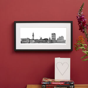 Birmingham Skyline Screen Print