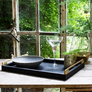 Luxury Black And Gold Tray - winter sale