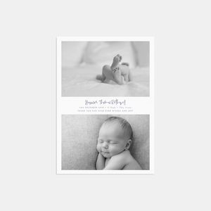 20 Double Trouble Photo Birth Announcement Cards