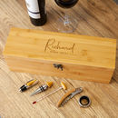 Personalised Birthday Wine Box And Accessories