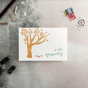 'With Sympathy' Letterpress Card