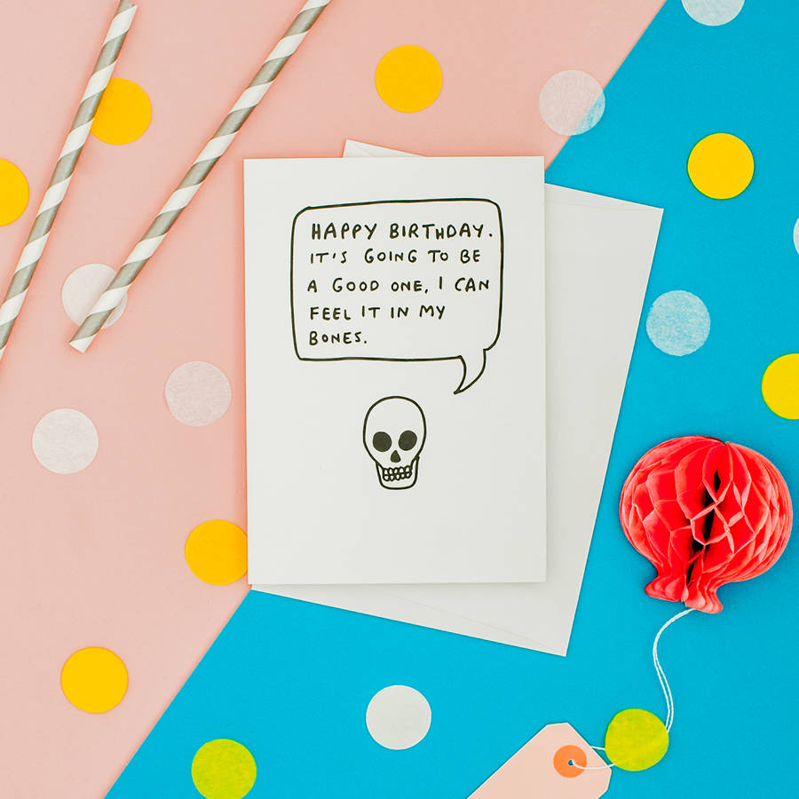 Skull Funny Birthday Card