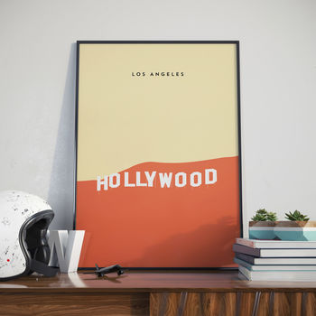 Hollywood Sign, Los Angeles, Print, Poster