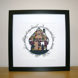 Hansel And Gretel Papercut Print - new in